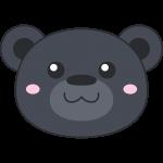 ツキノワグマ(熊)の顔イラスト【無料・フリー】