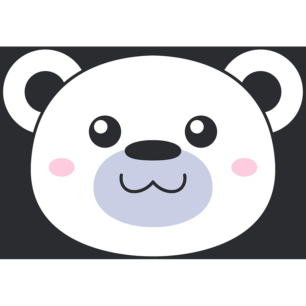 シロクマ(熊)の顔イラスト【無料・フリー】