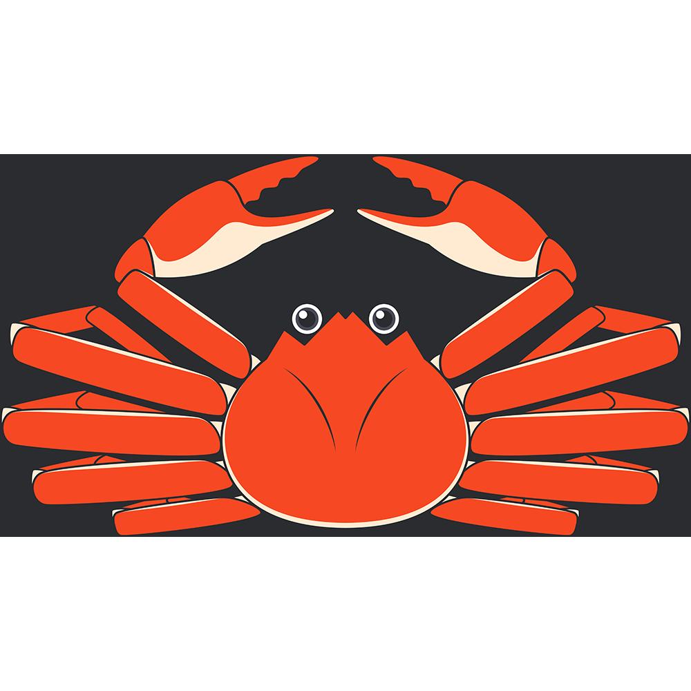 ズワイガニ(カニ・蟹)のイラスト【無料・フリー】