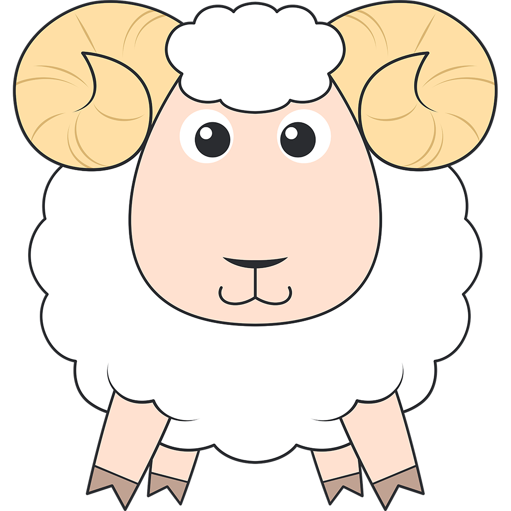 ヒツジ(メリノ-羊)のイラスト【無料・フリー】