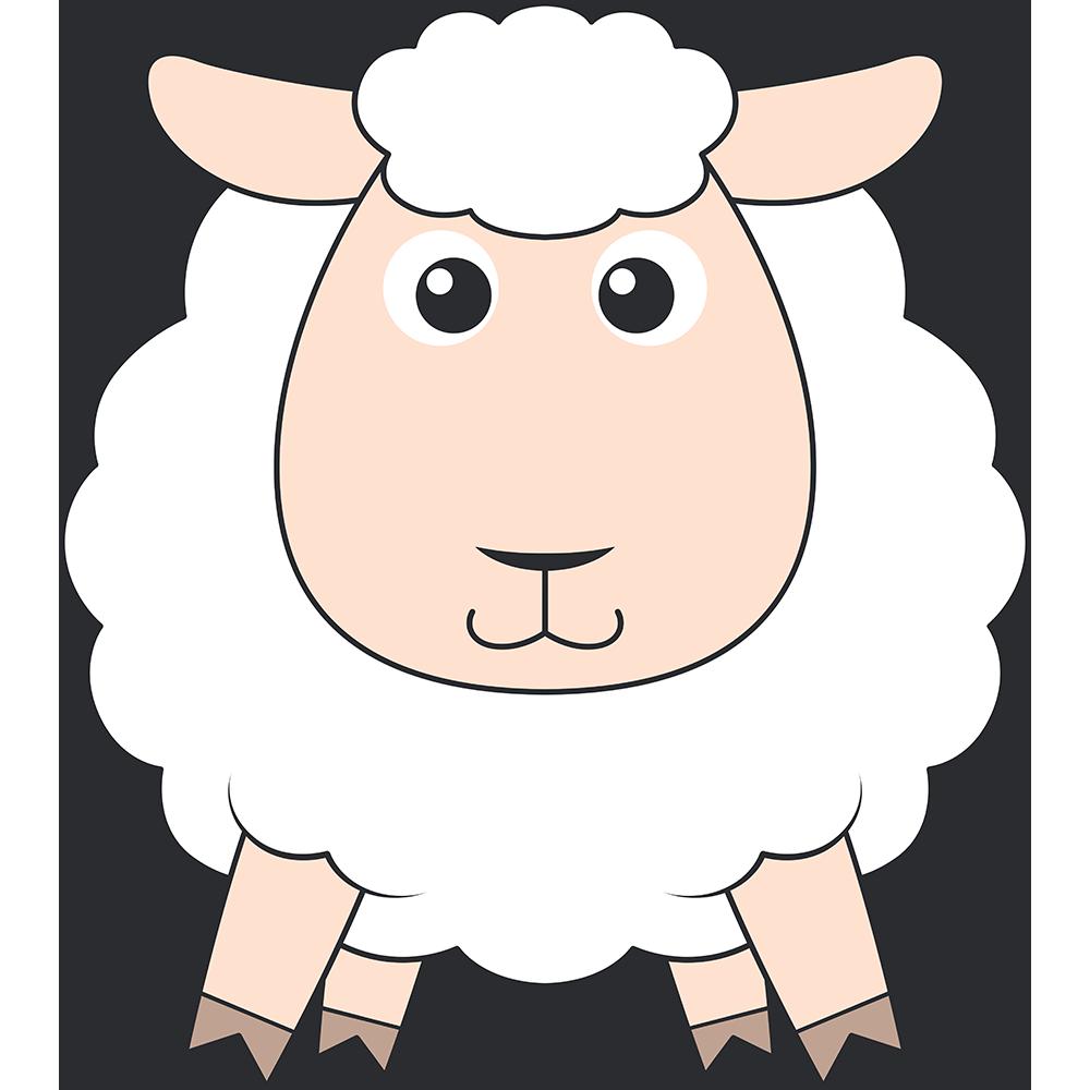 ヒツジ(コリデール-羊)のイラスト【無料・フリー】