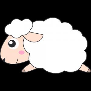 走るヒツジ(コリデール-羊)のイラスト【無料・フリー】