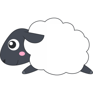 走るヒツジ(サフォーク-羊)
