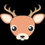 シカ(鹿-オス)の顔イラスト【無料・フリー】