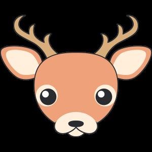 シカ(鹿-オス)の顔