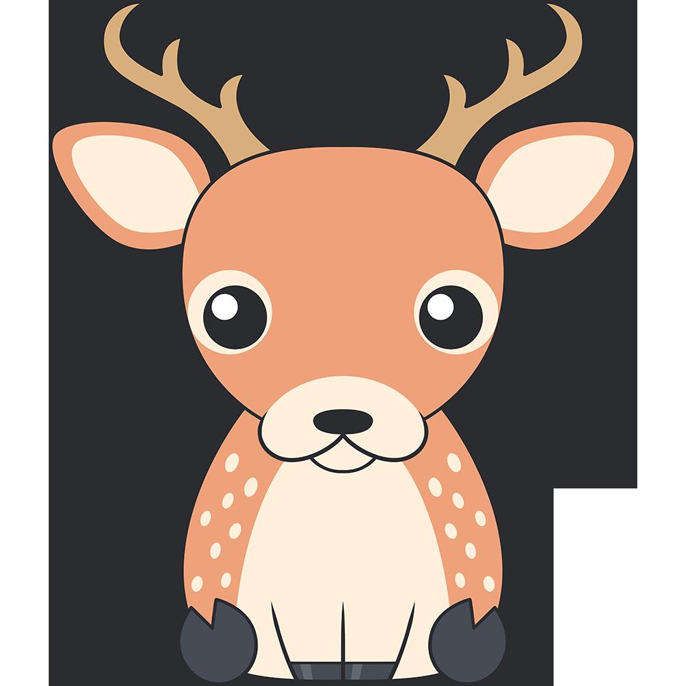 シカ(鹿-オス)のイラスト【無料・フリー】