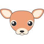 シカ(鹿-メス)の顔イラスト【無料・フリー】