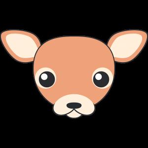 シカ(鹿-メス)の顔