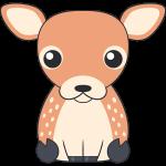 シカ(鹿-メス)のイラスト【無料・フリー】