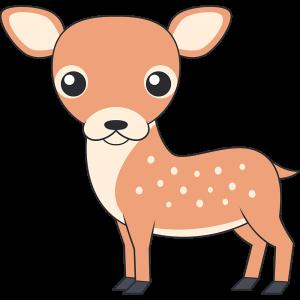 かわいいシカ(鹿-メス)
