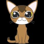 アビシニアン(猫)のイラスト【無料・フリー】