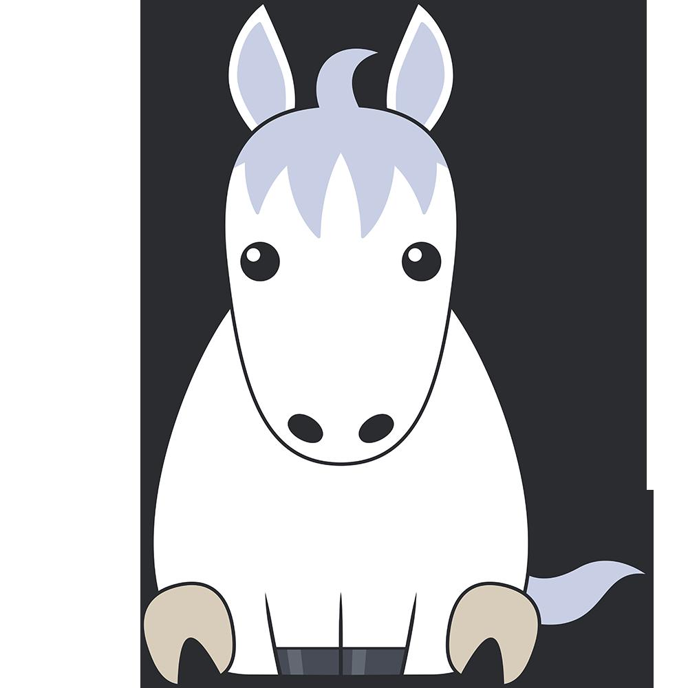 白馬のイラスト【無料・フリー】