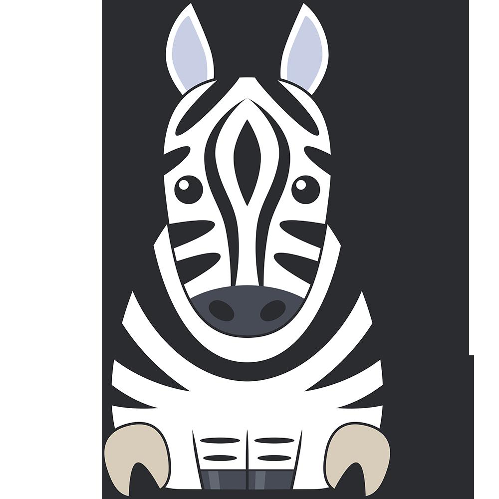 シマウマ(馬)のイラスト【無料・フリー】
