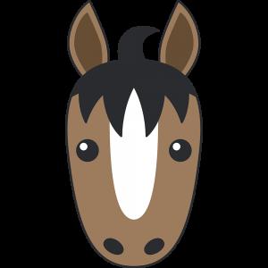 馬の顔イラスト【無料・フリー】