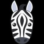 シマウマ(馬)の顔イラスト【無料・フリー】