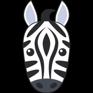 シマウマ(馬)の顔
