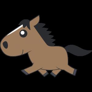 走る馬のイラスト【無料・フリー】