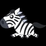 走るシマウマ(馬)のイラスト【無料・フリー】