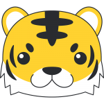 トラ(虎)の顔イラスト【無料・フリー】