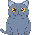 ブリティッシュショートヘア(猫)のイラスト【無料・フリー】