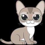 シンガプーラ(猫)のイラスト【無料・フリー】
