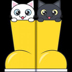 長靴に入った子猫