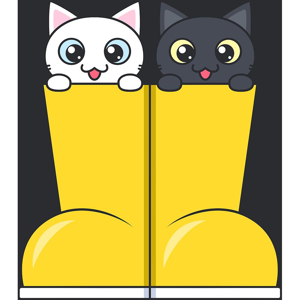 長靴に入った子猫のイラスト【無料・フリー】
