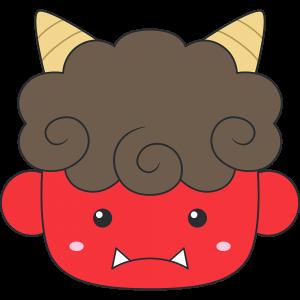 赤鬼の顔イラスト【無料・フリー】