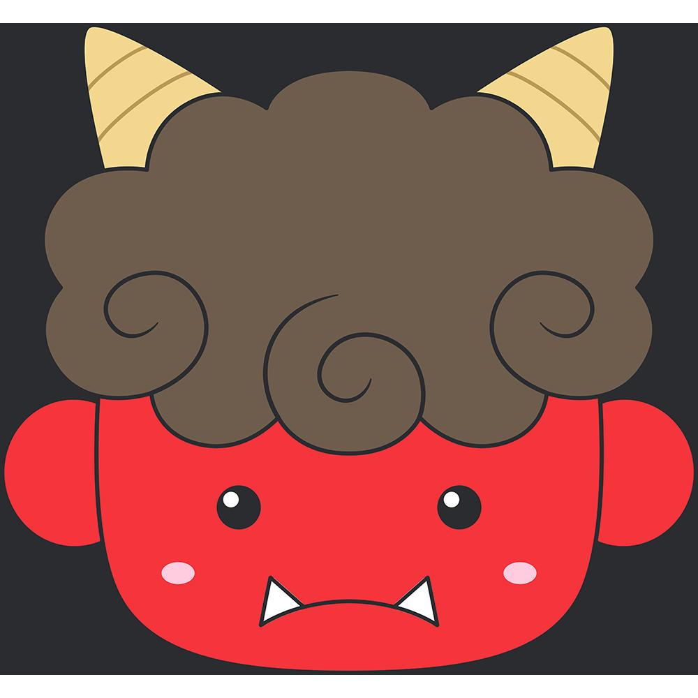 赤鬼の顔の無料イラスト