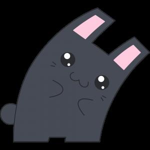 Hな黒いウサギ