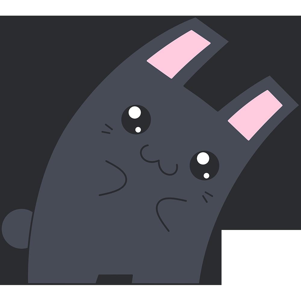 Hな黒いウサギのイラスト【無料・フリー】