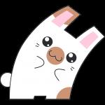 Hな茶白のウサギのイラスト【無料・フリー】