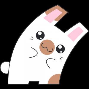 Hな茶白のウサギ