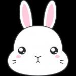 ネザーランドドワーフ(ウサギ)の顔イラスト【無料・フリー】
