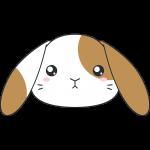 ホーランドロップ(ウサギ)の顔イラスト【無料・フリー】