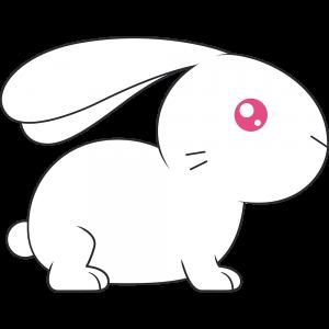 アルビノのウサギ