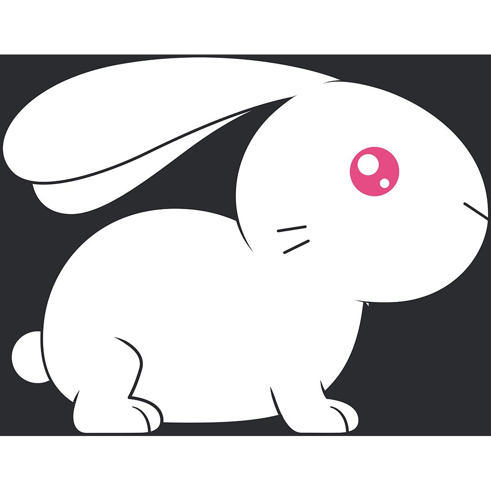 アルビノのウサギのイラスト【無料・フリー】