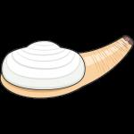 白ミル貝のイラスト【無料・フリー】