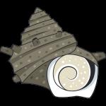 サザエ(貝)のイラスト【無料・フリー】