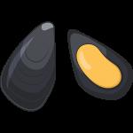 ムール貝のイラスト【無料・フリー】