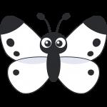 モンシロチョウ(蝶)のイラスト【無料・フリー】