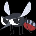 血を吸った蚊のイラスト【無料・フリー】