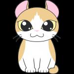 アメリカンカール(猫)のイラスト【無料・フリー】
