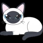 シャム猫のイラスト【無料・フリー】