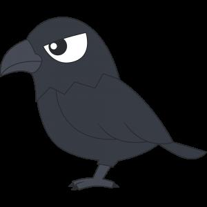 カラス(鳥)のイラスト【無料・フリー】
