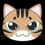 ベンガル(猫)の顔イラスト【無料・フリー】
