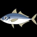 アジ・マアジ(魚)のイラスト【無料・フリー】