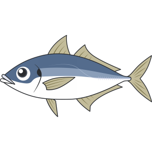 アジ(魚)のイラスト【無料・フリー】