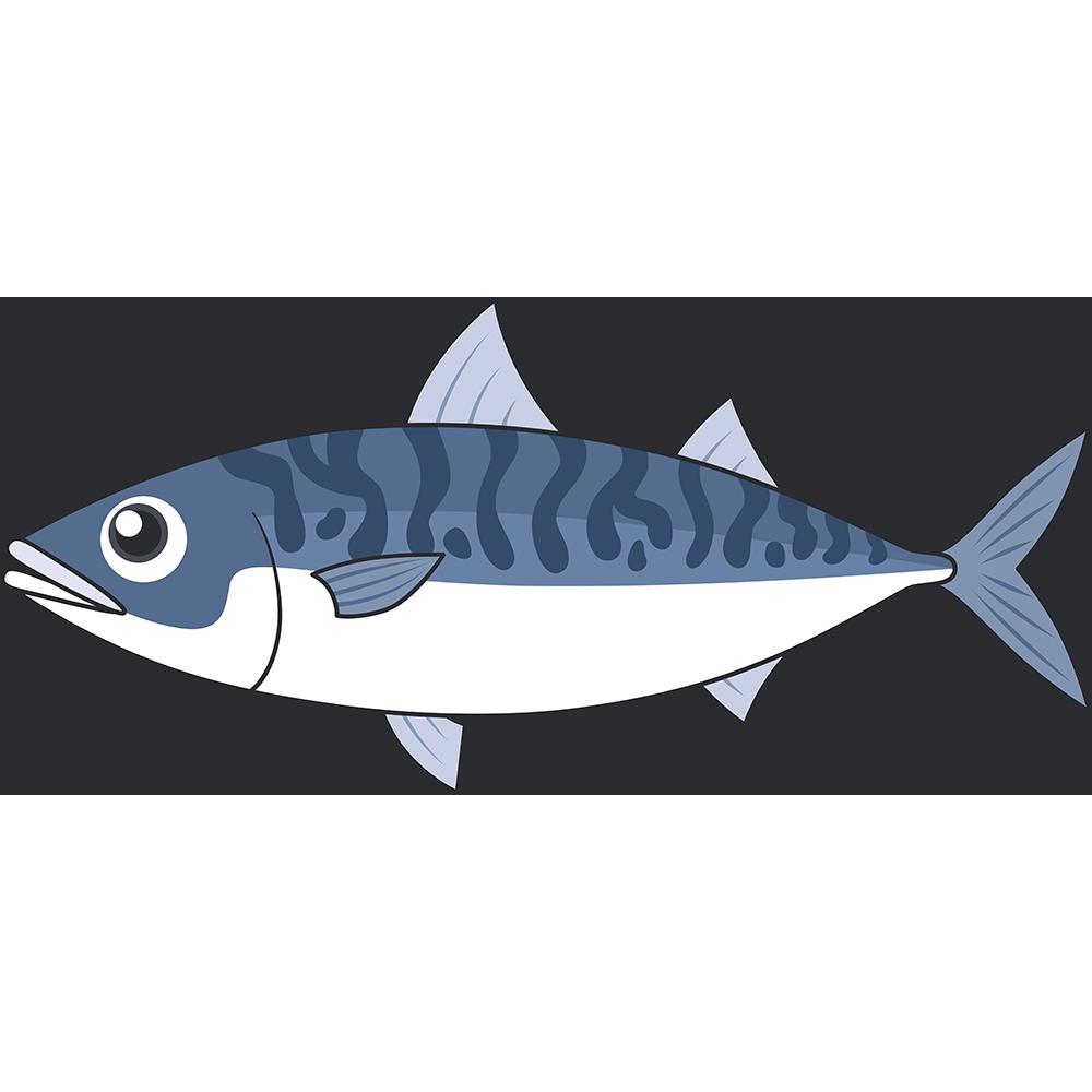 サバ・マサバ(魚)のイラスト【無料・フリー】