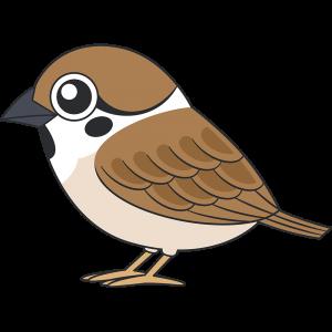 スズメ(鳥)のイラスト【無料・フリー】